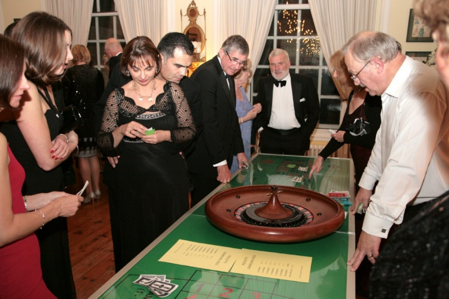 Going for the Gamble at the Linkage Masked Ball in 2014.