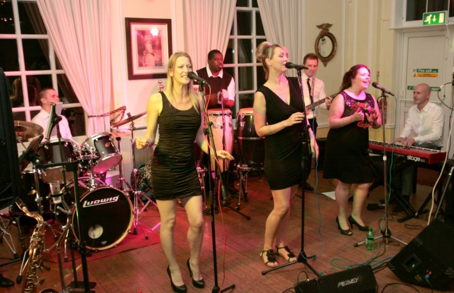 Motown Review perform at the Linkage Masked Ball.