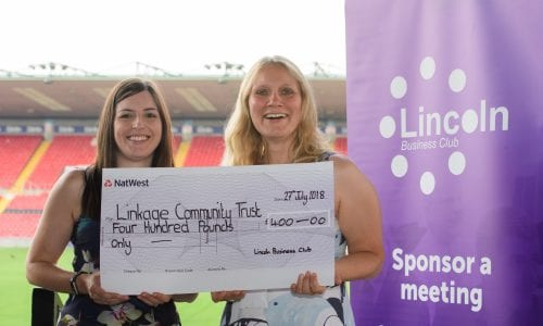 Donation from Lincoln Business Club